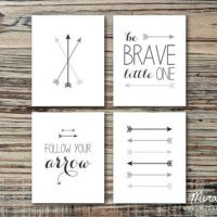 Brave Baby Nursery Art Set, Arrow Nursery from Miranda Jae ...