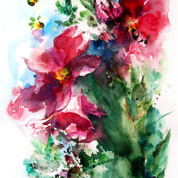 best abstract watercolor flower
