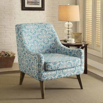 blue pattern accent chair chairs of the world gw2 shop printed on wanelo bertha collection print linen like fabric upholster