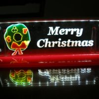 LED lighted Christmas decoration window from MLSLASERENGRAVING