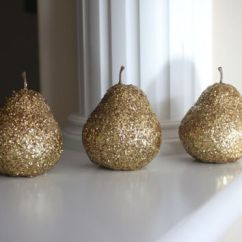 Fruit Decor For Kitchen Remodeling Orlando Shop Centerpieces On Wanelo Golden Pears Gold Pear