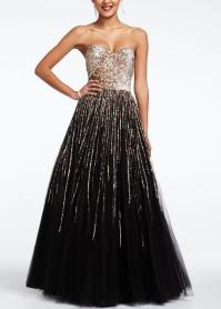 Strapless Sequin Embroidered Prom Dress - from David's Bridal