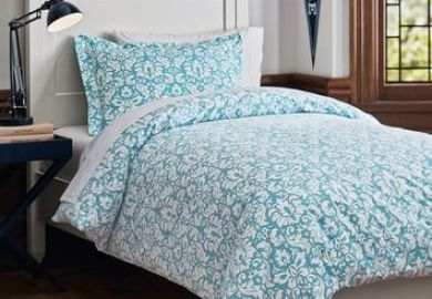 Shop Blue Damask Bedding On Wanelo