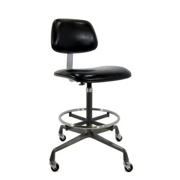 swivel chair operations ergonomic portable sale vintage eames ec428 operational from housing authority stool authentic herman miller drafting industrial