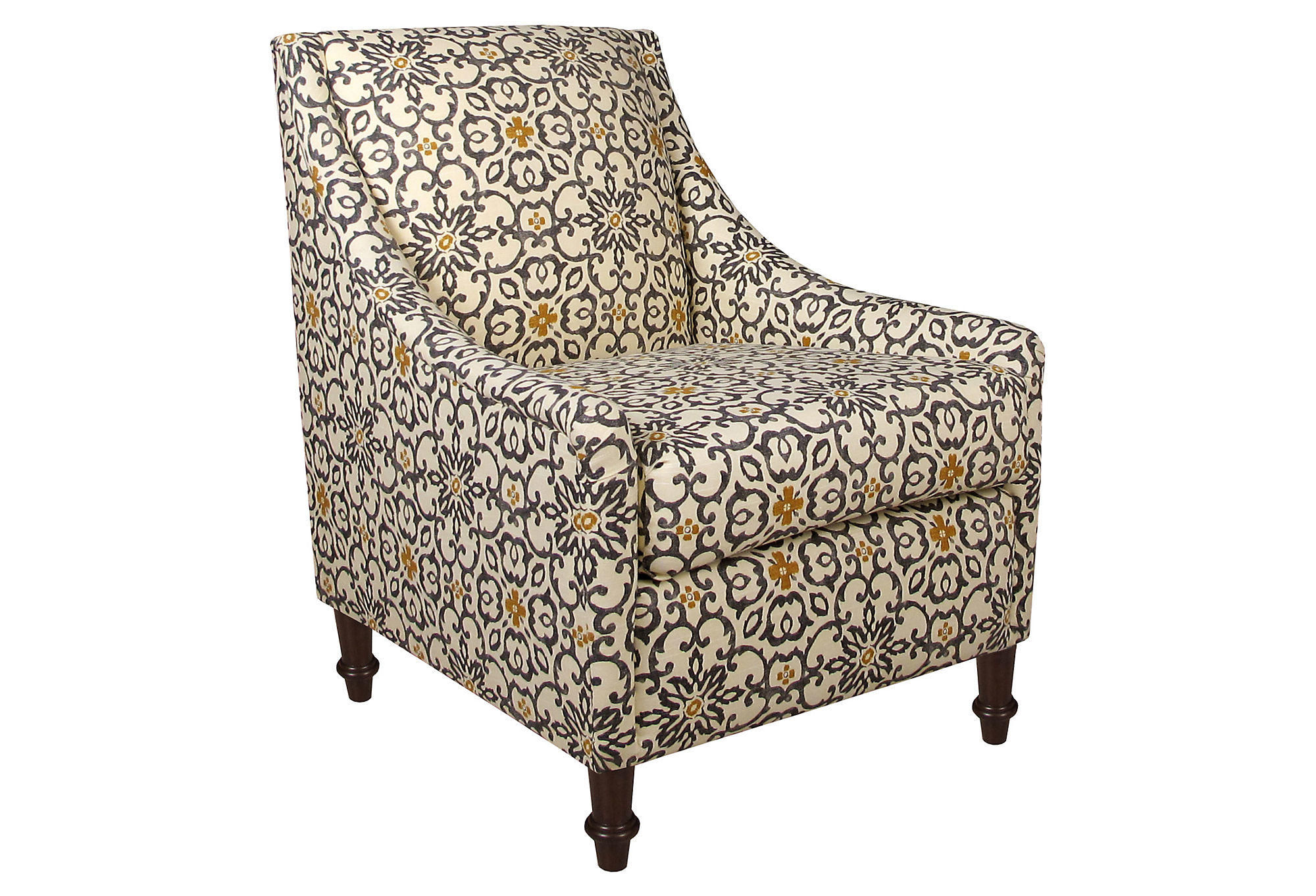 Yellow And Grey Accent Chair Holmes Accent Chair Gray Yellow Floral From One Kings Lane