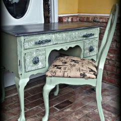 Painted Queen Anne Sofa Table Kenton Fabric Bed Shop Chair On Wanelo French Country Desk And Antique Distres