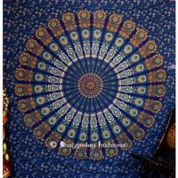 Unique Designs Blue and Golden Bohemian from vedindia.com