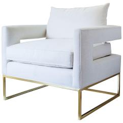 White And Gold Chair Table Rental Columbus Ohio Bevin Linen Accent From One Kings Lane