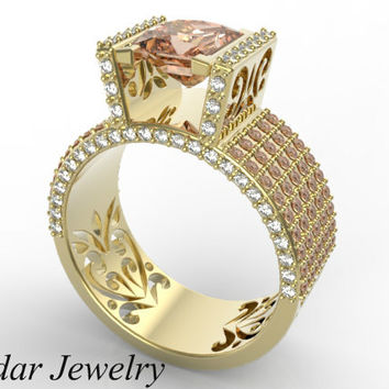 Best Wide Band Diamond Rings Yellow Gold Products on Wanelo