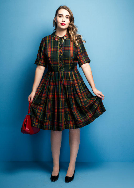 Vintage early 1960s Cos Cob plaid dress  from KaleidoscopeVin