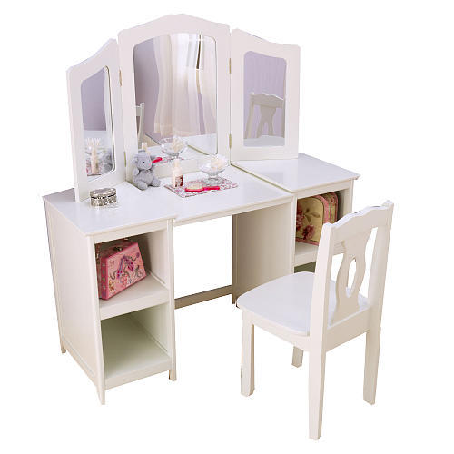 KidKraft Deluxe Vanity and Chair  White from faocom