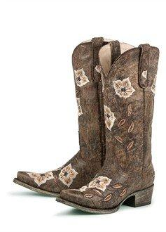 Womens Western Boots  Brown Sweet from advantagebridalcom