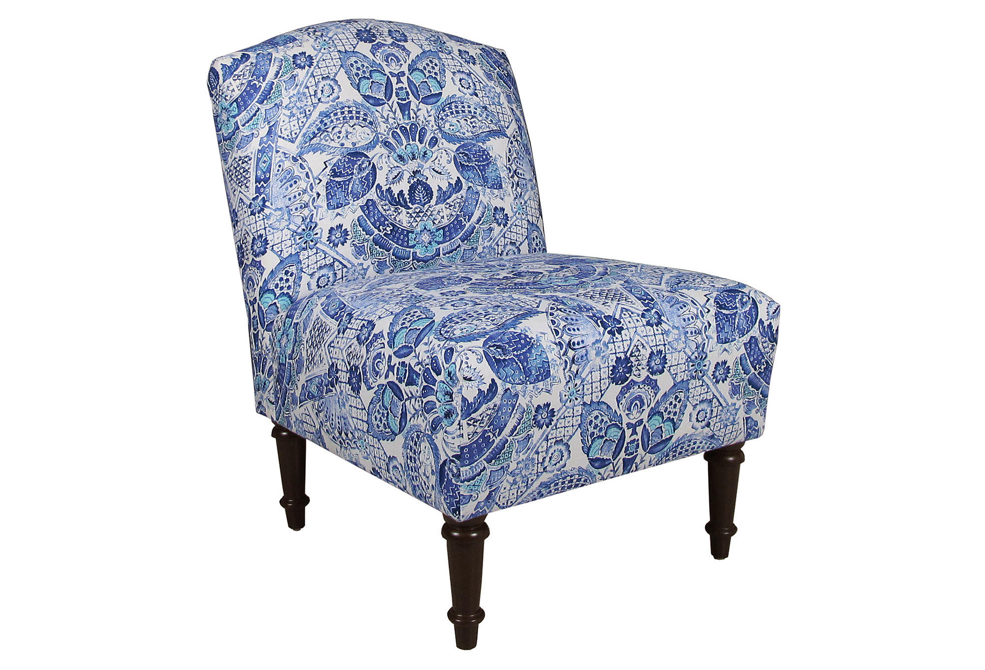 Blue Slipper Chair Clark Slipper Chair Blue Damask Accent From One Kings Lane
