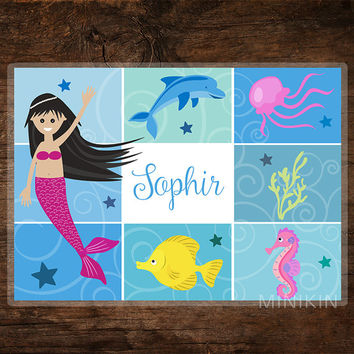 large personalized placemat kids