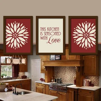 art for kitchen wall wood and glass cabinets shop artwork on wanelo red pictures artwo