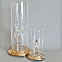 Vintage Handmade Wolfard Oil Lamps, Boxes from TheWildWorld on