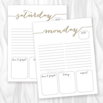 Best Weekly To Do List Pdf Products on Wanelo