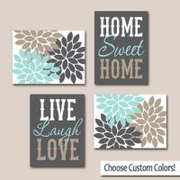 WALL ART CANVAS or Prints Live Laugh Love from TRM Design ...