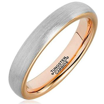 Shop Rose Gold Tungsten Rings on Wanelo