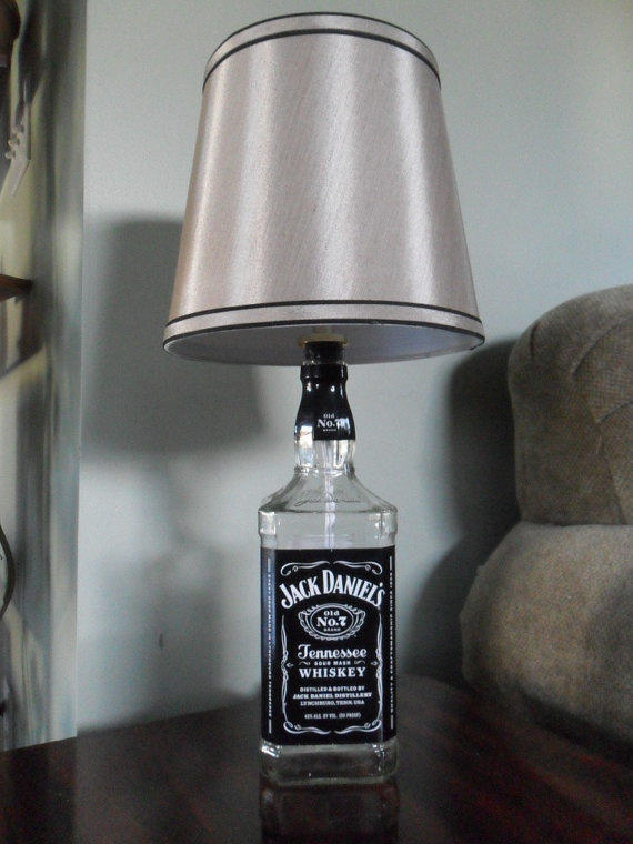 Recycled Liquor Bottle Lamp  Jack from BottleCrafters on Etsy