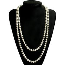 Image result for long pearl necklace