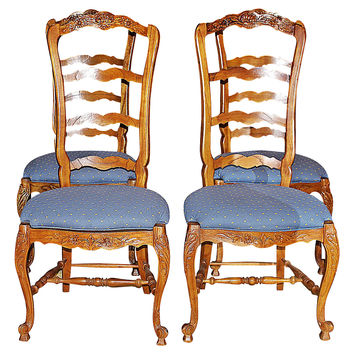 country french chairs upholstered leather black shop on wanelo ladderback s 4