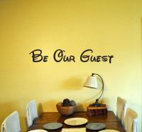 Be Our Guest Disney Vinyl Wall Decal from StickThisOn on Etsy