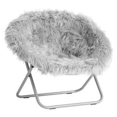 Hang A Round Chair Office Gray Fur Rific From Pbteen