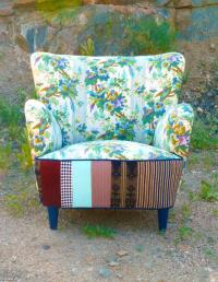 Mid Century Birdie Patchwork Chair by from vintagerenewal ...