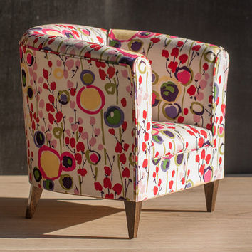 floral upholstered chair gym qvc 1 4 scale doll tub with bright from toteetoy on etsy coloured upholstery kawaii armchair