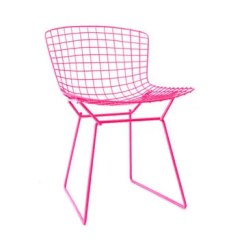 Neon Pink Chair Armless Covers Bertoia Knoll Side From Castandcrew On Etsy Restoration By Cast Crew