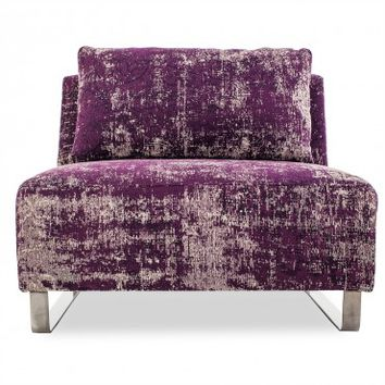 Mysticism Purple Armless Chair from abc carpet & home