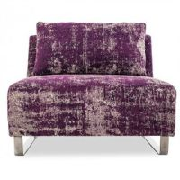 Mysticism Purple Armless Chair from abc carpet & home | Home
