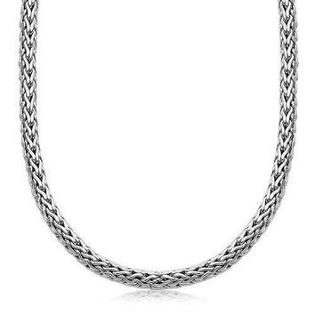 Shop Men's Sterling Silver Chain Necklace on Wanelo