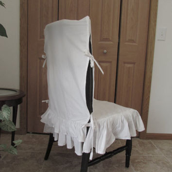 white linen chair covers for sale ikea tempe ruffle cover seat from modaragehome on etsy