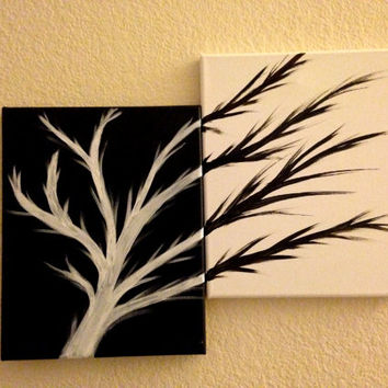 black and white acrylic