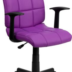 Purple Task Chair Bean Bag Covers For Sale Mid Back Quilted Vinyl From Contemporary Room With Nylon Arms