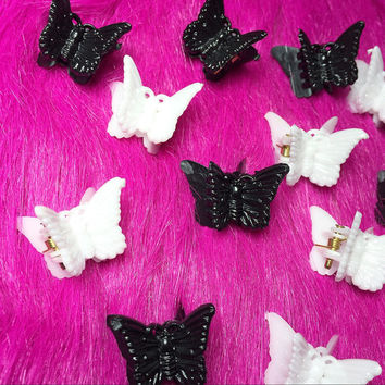 butterfly clips 90 s butterfly from weekendcloset on etsy