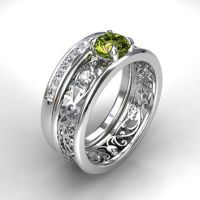 Shop Vintage Peridot Engagement Ring on Wanelo