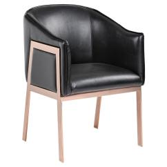 Gold Metal Accent Chair High Heel Shoe Rose Black Leather From One Kings Lane