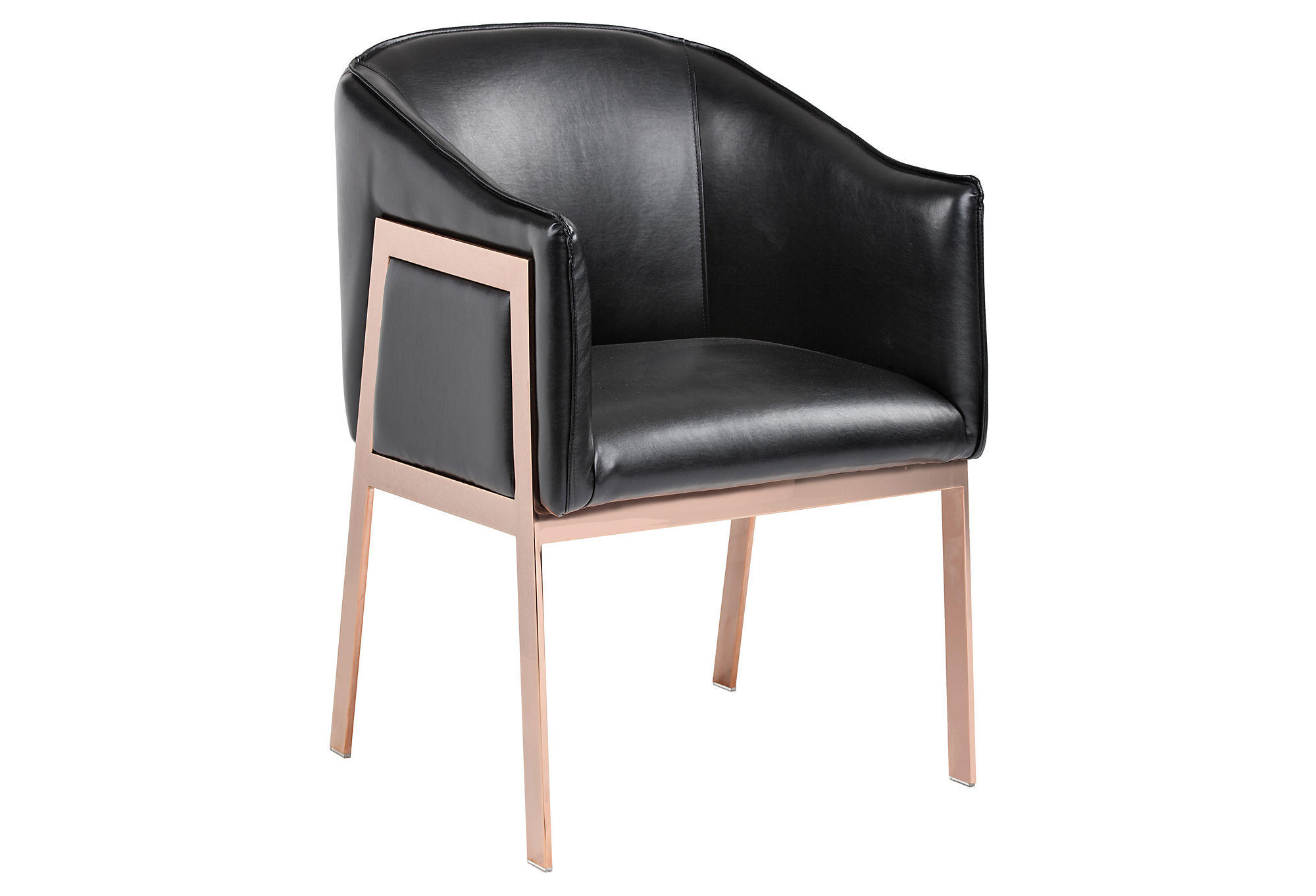 Gold Accent Chairs Rose Gold Accent Chair Black Leather From One Kings Lane