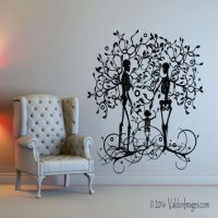 Shop Tree Of Life Wall Decal on Wanelo