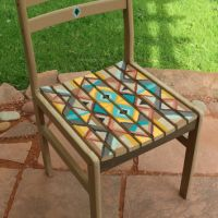 Whimsical hand painted chair decorative from ...