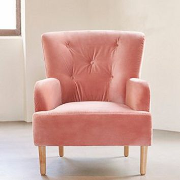 velvet armchair pink steel chair with handle rita urban outfitters from