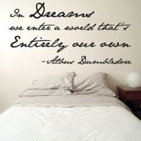 Dumbledore Dreams Quote Wall Decal Harry from fjoll on Etsy