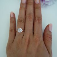4 Carat Oval Cut Solitaire, Art Deco from Tiger Gemstones