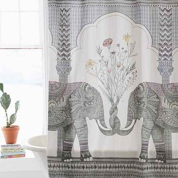 Magical Thinking Elephant Shower Curtain from Urban Outfitters