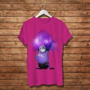 evil purple minion with hair galaxy