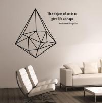 Geometric Triangle WITH QUOTE Vinyl Wall from ...