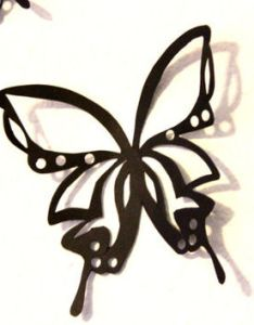 Black butterflies large paper butterfly wall art nursery home also  artdie cut from mydreamdecors rh wanelo